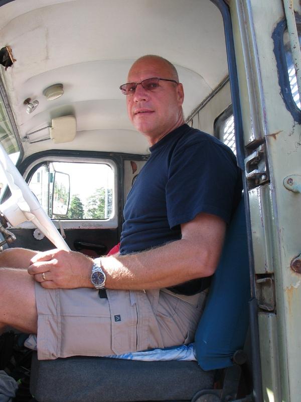 Kjell Thomson Länstrafikpolisen inspekterar