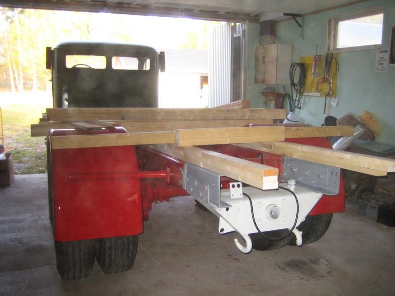 Jul 2008 Dragbalk monterad, flakbyggnation påbörjad