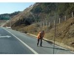 kina43 Motorväg som sopas för hand.