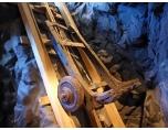 Spårfordons begynnelse, här i gruvschakt. Foto: Ason